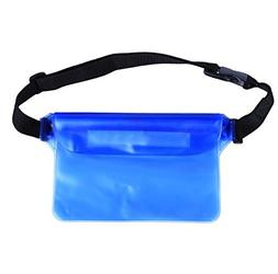 3 Layer Protection Waterproof Waist Bag Dry Pouch Clear PVC
