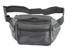 TCI 7-Compartment Waist Pack - Black Faux Leather