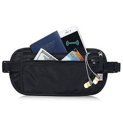 AIKELIDA RFID Blocking Travel Wallet - Money Belt & Passport