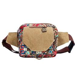 Black Butterfly Original Bohemian Women Waist Pack Pocket Pu