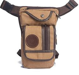 Casual Waterproof Canvas Waist Pack Military Waist Bag Vinta