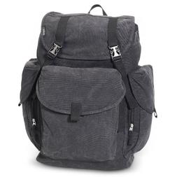 Everest Luggage Rugged Canvas Backpack BK