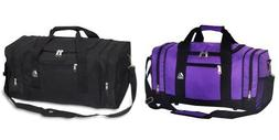 Everest Luggage Sporty Gear Bag,OneSize,Set of Black and Pur
