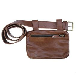 Hang Freely Leather Hip Travel Festival Pack-Brown-One Size