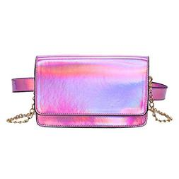 JNHVMC Women Holographic Waist Pack Small Multifunction Mess