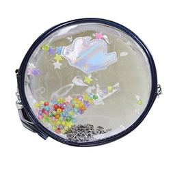 Mily Round Silver Hologram Mini handbag purse wallet with Ta