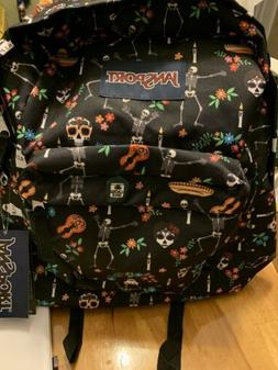 NEW Jansport Superbreak Day of the Dead Backpack Sugar Skull