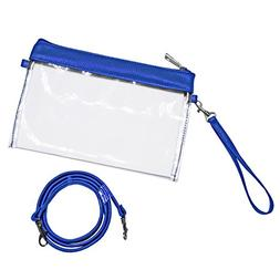 Occasionally Made Clear Stadium Pouch, Royal