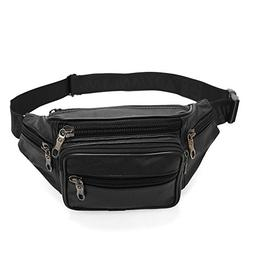 OrrinSports Real Cow Leather Waist Pack With Multiple Pocket