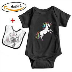POOPEDD Happy Unicorn Unisex Baby Short Sleeve Onesies Baby