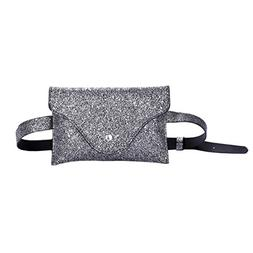 Sequins Waist Bags,Hemlock Women Girls Belt Bags Shining Mes