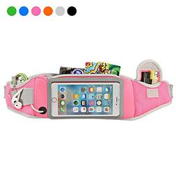 Sport Girls Waist Pack - Best 4.7''- 5.8'' Smartphone Sweatp