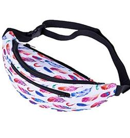 Waist bag for Women,iOPQO decorative pattern gym fitness bag
