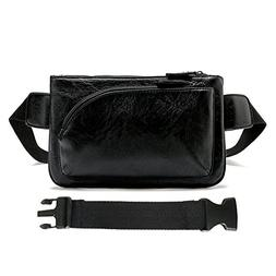 YingOnly Synthetic Leather Waist Pack Chest Bag Multi Pocket
