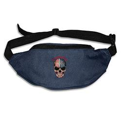 Kuglobal American Flag Outdoor Running Waist Pack Bag Sports