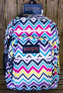 JANSPORT Authentic BIG STUDENT Backpack Multi Saucy Chevron