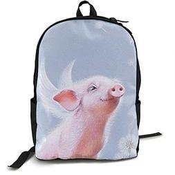 Gaosus Backpack Angel Pig Travel Water Resistant School Back