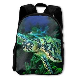 Kids Backpack Cool Sea Turtle Casual Children Backpacks Scho