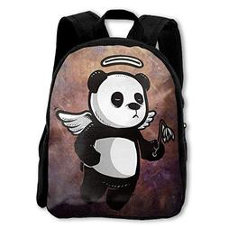 Kids Backpack Funny Cartoon Cute Angel Panda Girls School Ba