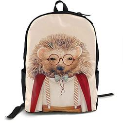 Gaosus Backpack Harry Hedgehog Art Travel Water Resistant Sc