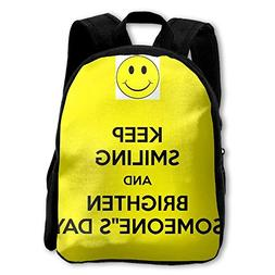 Kids Backpack Keep Smiling And Brighten Someone's Day Casual