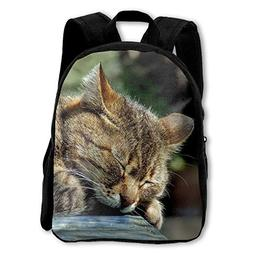 Kids Backpack Sleeping Cat Girls School Bag Multipurpose Day