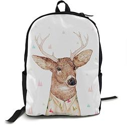 Gaosus Backpack White Tailed Deer Travel Water Resistant Sch