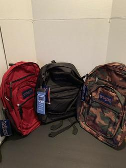 JanSport Big Student Backpack -NWT - Surplus Camo Viking Red