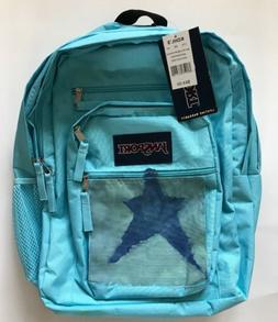 Jansport Big Student Solid Blue Topaz Backpack Bookbag Book