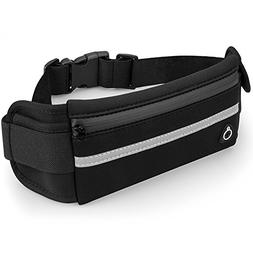 Black Running Belt, Elastic Waist Pack, Waist Bag for Apple