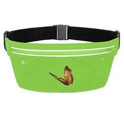 Stityshi Brown Butterfly Running Belt Waist Pack Invisible W