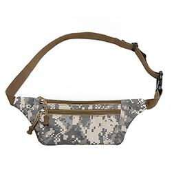WeiMay Unisex Camo Canvas Waist Bag Waterproof Wear-resistan