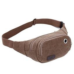 Miaomiaogo Men Women Outdoor Canvas Casual Waist Packs Leg B