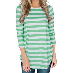 Clearance Deal! Seaintheson 2018 Women New Striped Print Blo