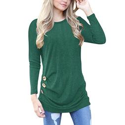Clearance! Seaintheson Women Ladies Plus Size Solid Casual R