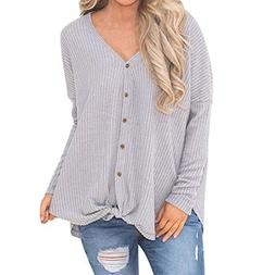 Clearance! Seaintheson Womens Loose Knit Tunic Tops Tie Knot