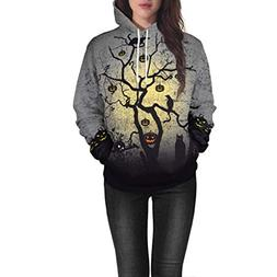 Clearance Sale! Padaleks Mens and Womens 3D Ghost Print Hall