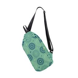 Cyan Snowflake Raindrops Multipurpose Crossbody Shoulder Bag