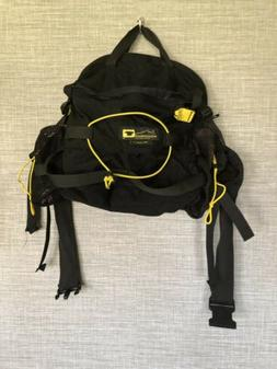 day pack lumbar pack black and yellow