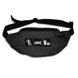 Eat Sleep Usa Madrid Soccer Running Waist Pack Bag Travel Sp