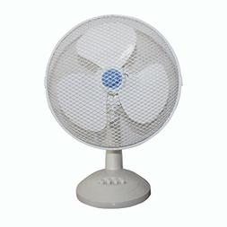 Yezijin Fan, Electrical 3-Speed Oscillating Desk Top Fan, 6/