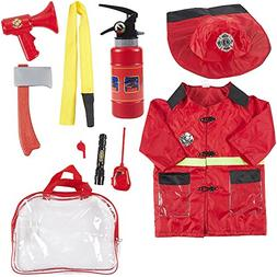 Fireman Costume for Kids - 10-Piece Firefighter Role Play Ki