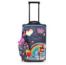 "Girls JOJO Siwa 17"" SUITCASE Rolling Pilot Case LUGGAGE Ca"