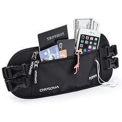 Hidden Money Belt, RFID Travel Wallet Passport Holder Securi
