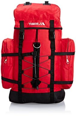 Everest Hiking Pack, Red, One Size