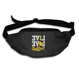 I Love Softball Baseball Running Waist Pack Bag Outdoor Spor
