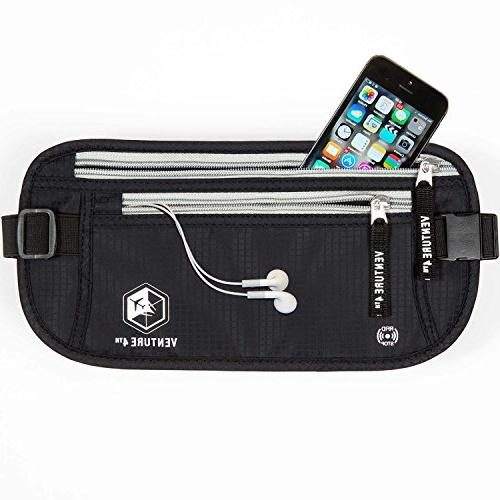 Travel Money Belt - Keeps Your When Waist RFID Designed For Superior Protection and Comfort Twin Pack