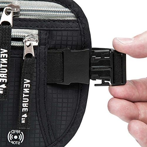 Travel Money Belt Keeps Your Cash When Traveling Waist Passport RFID For and