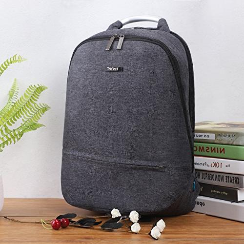 TINYAT Backpack with USB Charging Port,College Bookbag Daypa