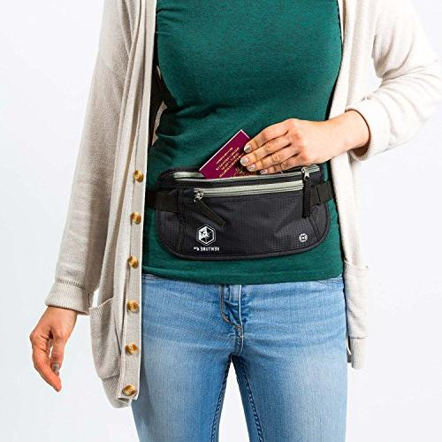 Travel Belt When Traveling Waist Holder With RFID Designed For Anti-Theft Protection and